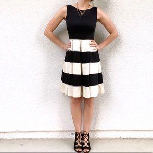 Kate Spade striped pleated dress